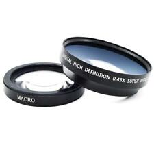 View HD 72mm 0.43x Wide-Angle + Macro Lens for Canon 72mm Camera Filter