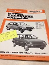 Revue Technique Automobile Austin MG Vanden Plas Métro Metro Turbo éd.  89