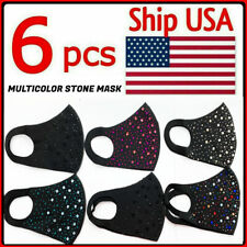 SALE! 6 PCS -Stone Design Face Mask Reusable Washable Cover Protective Mouth