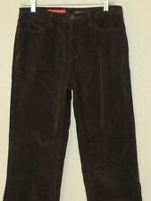 NYDJ Brown Stretch Cotton Corduroy Jeans Size 6 Boot Cut Pockets For Real Curves