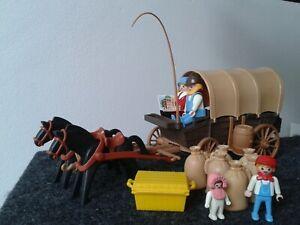 Playmobil, Planwagen, Pferdekutsche, Western, Kutsche, Pferdehof, Sammler, Pferd