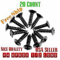20 Black PickGuard Screws Fits Fender® Strat®,  Tele®, ESP,  Ibanez USA SELLER!