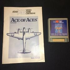 Vintage Ace of Aces XE Cartridge & Manual for 8-Bit Atari XL/XE Computer Systems