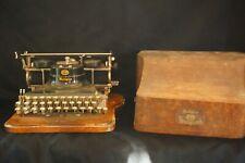 Rare Hammond Multiplex Typewriter w/ Original Wood Case, Antique Typewriter 1913
