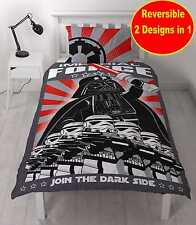 NEW LEGO STAR WARS DARTH VADER SINGLE DUVET QUILT COVER SET BOYS KIDS BEDROOM