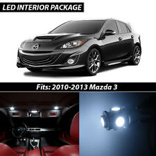 2010-2013 Mazda 3 White Interior LED Lights Package Kit MazdaSpeed 3