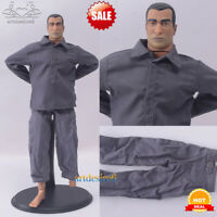 "1/6 Scale Clothes Accessories Shirt Pants Suit Dark Blue Fit 12"" Action Figure"