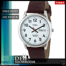 Timex Men's Easy Reader Brown Leather Watch, T20041 Free Shipping in AU