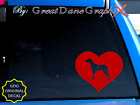 Great Dane #4 in HEART -Vinyl Decal Sticker -Color Choice -HIGH QUALITY
