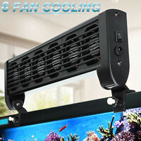 Aquarium Marine Tropic Chillers Cooling Fan 2/3/4/5/6 Fans Fish Tank + Adapter