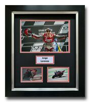JORGE LORENZO HAND SIGNED FRAMED PHOTO DISPLAY - MOTOGP DUCATI AUTOGRAPH 3.