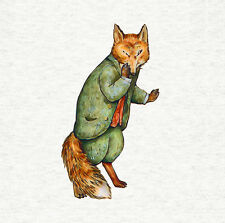Peter Rabbit's Mr. Tod The Fox Fabric Craft Panel / Quilting Panel, 8x8 inch'