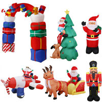Jumbo Airblown Inflatable Christmas Santa Archway Reindeer Sleigh Outdoor Decor