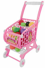 Shopping Cart Play Set Kid Children Baby Imagination Toy 48 Pieces Fruit Veggies