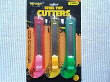 3 Cutters Lame de 18 mm Pour Bricolage, Tout Neuf Sous Blister