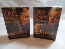 LORD OF THE RINGS TCG FELLOWSHIP PAIR OF ARAGORN & GANDALF STARTER DECKS