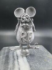 vintage rat fink ed roth motorcycle mascot ratrod hotrod car hood ornament