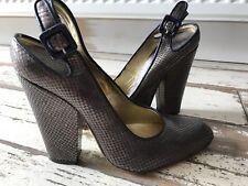 Zapatos de Cuero Vivienne Westwood de Piel de serpiente bronce. UK 5/5.5 en muy buena condición!