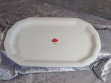 Tirschenreuth Porzellan FACETTE Platte Teller Tablett 33 cm zartblauer Rand