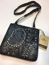 PATRICIA NASH Black Studded Link Granada Small Crossbody Bag Purse NWT $169 L@@K