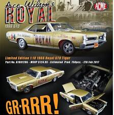ACME 1/18 1966 PONTIAC GTO ACE WILSON'S ROYAL TIGER DRAG CAR 1 OF 636 A1801206