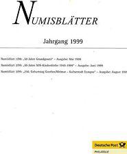 Numisblätter - Jahrgang 1999 - mit Beschreibungen ( ÜF04 )