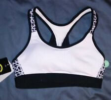 Champion PowerCore White w/ Black Pattern Sport's Bra Size XS