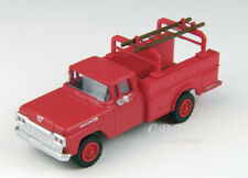Classic Metal Works 1/87 HO 1960 Ford Red Hi-Rail Utility Truck w/Ladder #30461