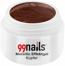 Metallic Effektgel Kupfer Farbgel Braun UV Nagel Gel Effektfarbe Metallic Nails