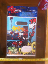 Ultimate Spiderman Party Bags x 6 Loot Bags Celebration Fun Gift Bags