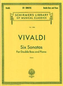 Antonio Vivaldi 6 Sonaten für Kontrabass und Piano