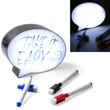 LED Light Up Box Speech Bubble Write Your Own Message Sign Display Party Wedding