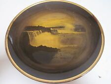 ANTIQUE RIDGWAY PORCELAIN GOLD NIAGARA FALLS SOUVENIR COLLECTORS PLATE
