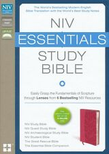 NIV Essentials Study Bible [Deluxe] Honeysuckle Pink (Imitation Leather)
