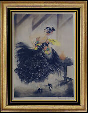 Louis Icart HAND SIGNED COLORED ETCHING Windmill Stamp Art Deco Carmen Portrait