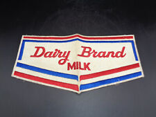 VINTAGE LARGE Dairy Brand MILK Jacket Shirt Patch 12