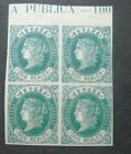 CLASSIC DOS REALES BLOCK OF 4 WITH 2 STAMPS VF N SPAIN ESPAGNE W9.34 START 0.99$
