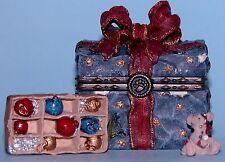 Boyds Bears trinket box Topper's Ornament Box, hinged mouse #83012 NIB Christmas