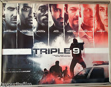 Cinema Poster: TRIPLE 9 2016 (Main Quad) Norman Reedus Woody Harrelson