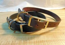 "Handmade Leather Dog Collar, 1"" wide for Medium_Large Breeds Heavy Duty"