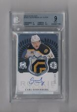CARL SODERBERG 2013-14 THE CUP AUTO PATCH RC #102/249 BRUINS BGS 9 10
