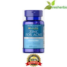 ZINC FOR ACNE SKIN FORMULA 100 TABLETS MULTIVITAMIN PILL HIGH POTENCY SUPPLEMENT
