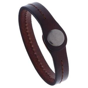 Mens Women Handmade Genuine Leather Bracelet Bangle Wristband Wrap Cuff Jewelry