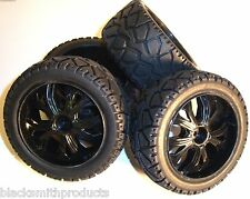 BS937-001/2 1/10 Scale RC Buggy Street Wheels and Tyres x 4 Black