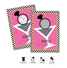 Martini Glass Scratch Off Game Cards Wedding Bridal Shower Party Activity