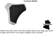BLACK & WHITE CUSTOM FITS DUCATI 848 1098 1198 SEAT COWL PAD COVER