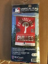 "PHILADELPHIA PHILLIES 1883 VERTICAL FLAG WINCRAFT SIZE 27"" X 37"" 029010"