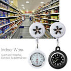 2 Pcs Clip-on Hanging Lapel Nurse Fob Watch Silicone Cover Doctor Pocket Watch