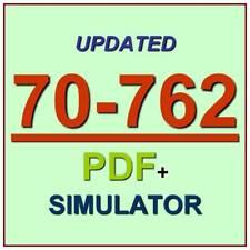 Latest 70-762 Verified Practice Test 762 Exam QA PDF+Simulator