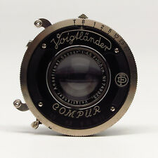 Voigtländer Anastigmat-Skopar 1:4.5 10,5cm in Compur shutter - Fine vintage cond